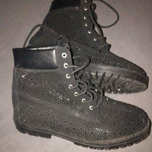 Cape Robbin black studded combat boots